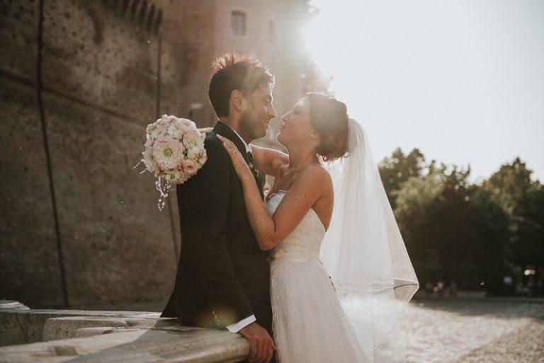 Servizio fotografico agli sposi durante il matrimonio a Casa Celincordia