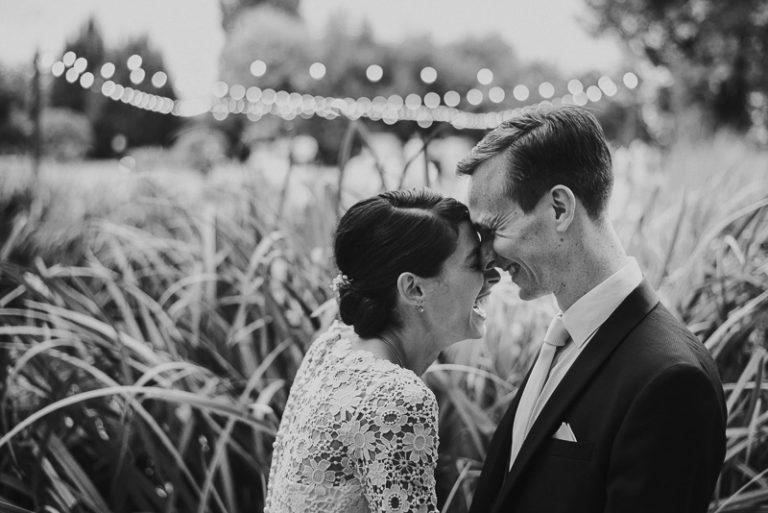 ritratto degli sposi durante il matrimonio