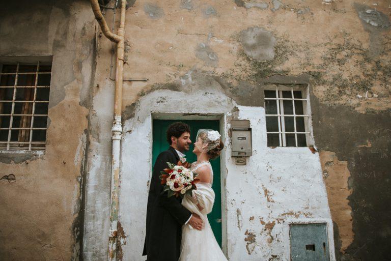 Ritratto fotografico agli sposi a Santarcangelo - Matrimonio a Villa Malatesta