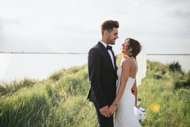 Servizio fotografico a sposi tra le saline di Cervia