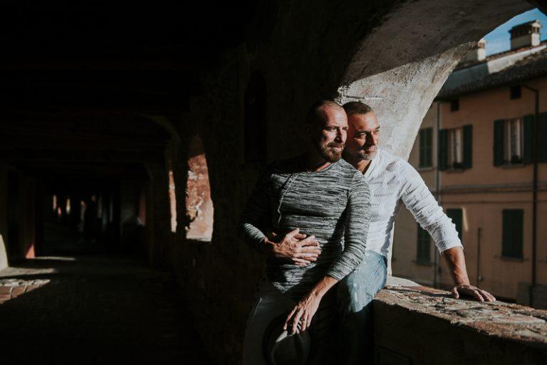 Servizio fotografico di coppia gay