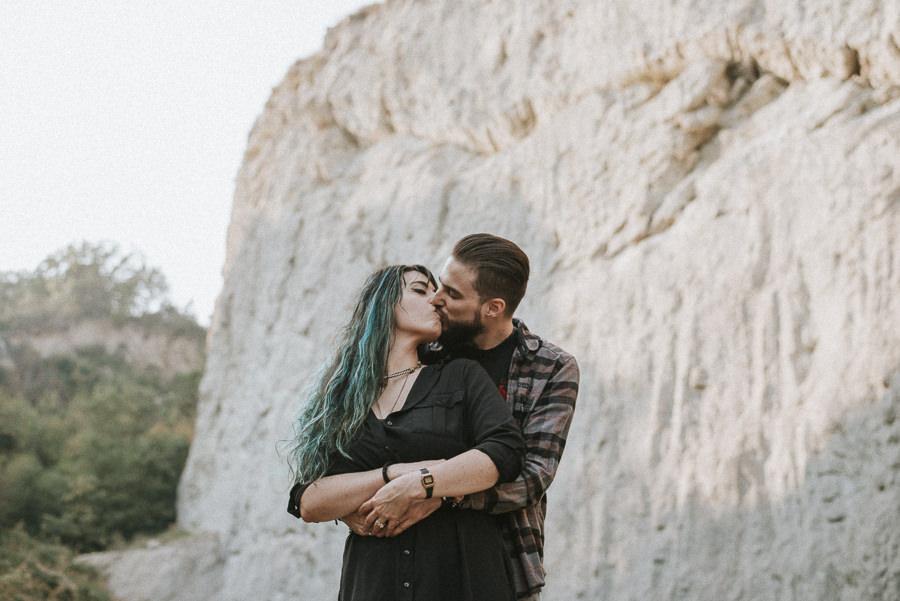 servizio fotografico di coppia avventuroso