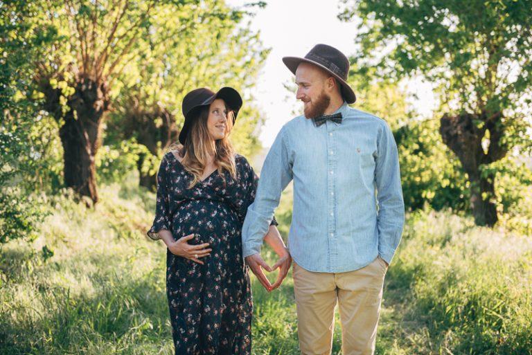 Un servizio maternity in stile country chic