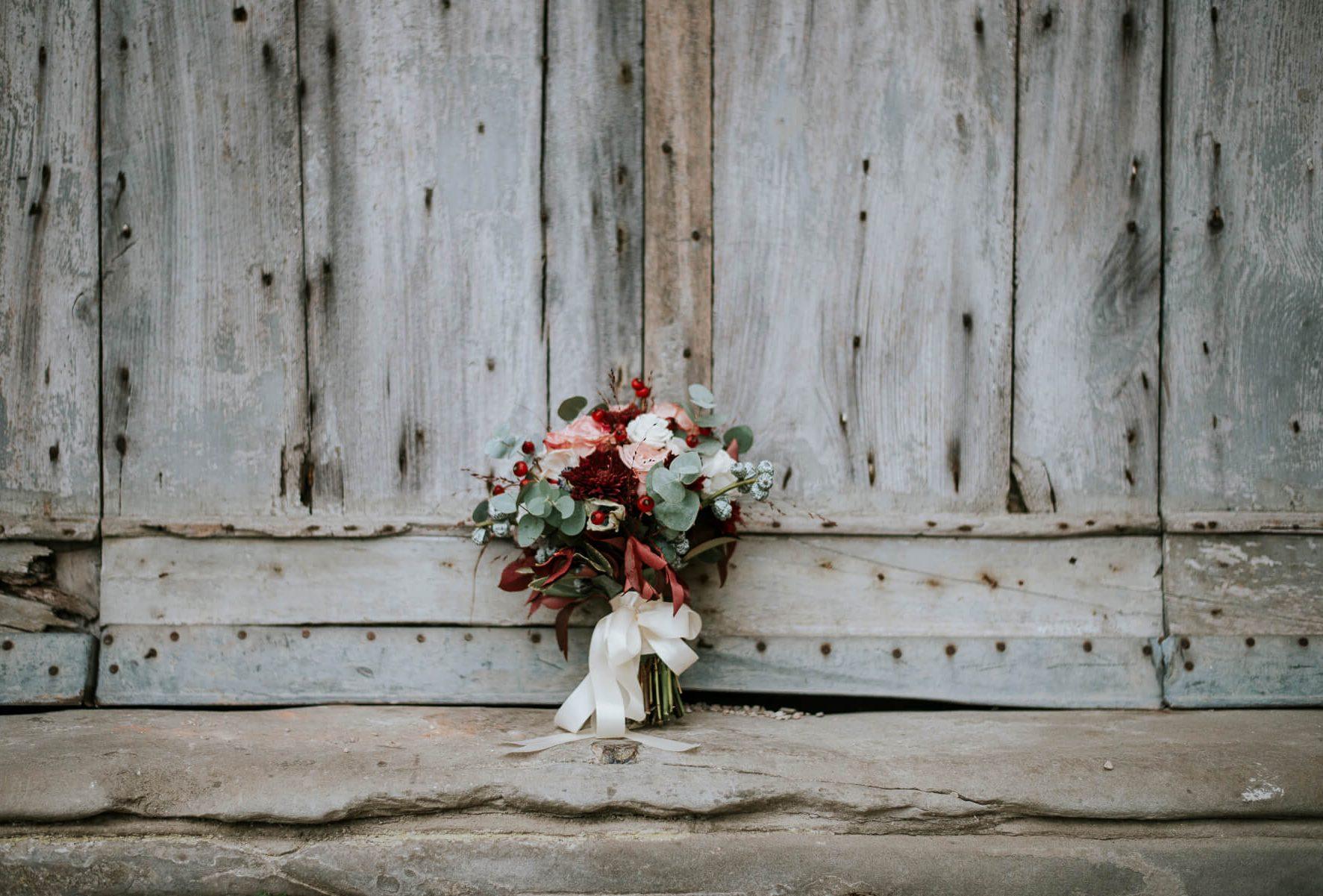 Servizio fotografico matrimonio - bouquet romantico